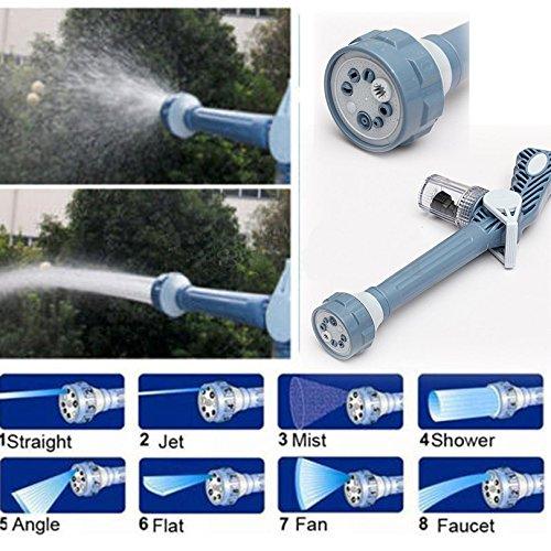 Zhuhaixmy 8 Düse Wasserkanone Gartenschlauch Befestigung Spritzpistole -Auto-Waschmaschine Werkzeug
