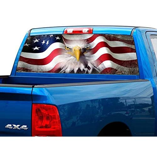 HARLEY DAVIDSON Rear Window Graphix Eagle flag  13 INCH DECAL