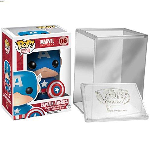 Funko Pop: Marvel Comics - Captain America Vinyl Figure + FUNKO PROTECTIVE CASE