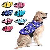 Dogcheer Dog Life Jacket, Dog Life Swim Vest Small Medium Large, Reflective Puppy Life Jacket Dog Floatation Vest PFD with Enhanced Buoyancy and Rescue Handle for Swimming Boating