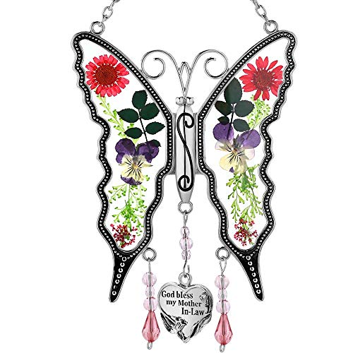 God Bless My Mother-in-Law New Butterfly Sun-Catchers Gifts for...