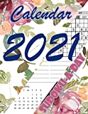Sudoku Calendar 2021: Multifunctional Daily Calendar with your favorite Puzzle in a Watercolor Flower design
