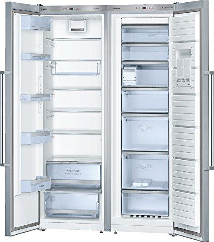 Bosch KAF99PI35 Side-by-Side/A++ / 186 cm Höhe / 318 kWh/Jahr / 300 L Kühlteil / 237 L Gefrierteil/Akustischer Türalarm/Super-Gefrieren