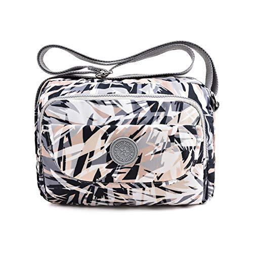 tuokener Bolso de Mujer Bandolera Bolsillos Impermeable Bolsos Pequeños Bandoleras Bolsa para Viaje Crossbody Bag Nylon Waterproof (Multicolor)
