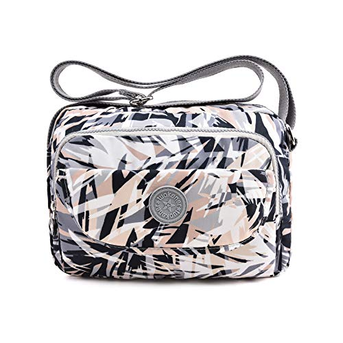 tuokener Tasche Klein Damen Umhängetasche Street Bag Wasser-Beständige Nylon Viele Fächer Schultertaschen (Mehrfarbig)