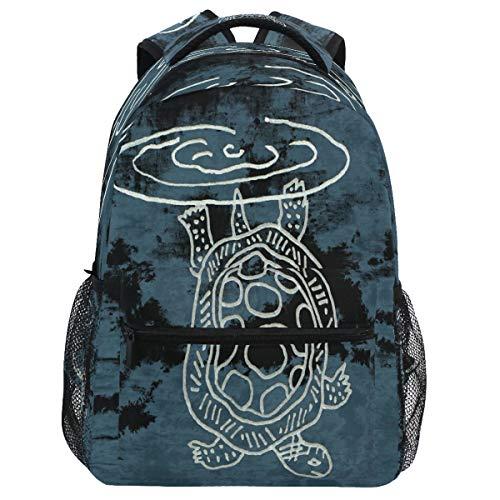 Oarencol mochila vintage de tortuga marina mochila libro abstracta animal mochila viaje senderismo camping escuela portátil bolsa