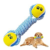 🐾【Natural Cotton Dog Rope】Rope Toys for Dog will make your pet safe to chew and play. They are built to be durable with a high-quality 100% cotton fabric so that you and your dog will get great use and enjoyment from them. Machine washable and easy t...