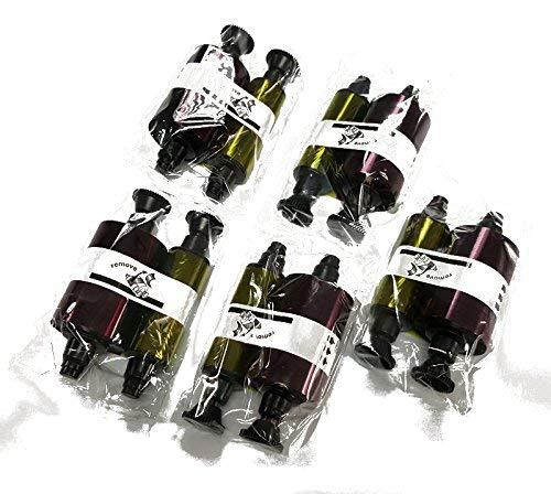 OFFERTA BLACK FRIDAY! Pack 5 unità - Nastro in PVC stampatore della carta R3011 Evolis (200 carte, Ciottolo, Dualys, Quantum)