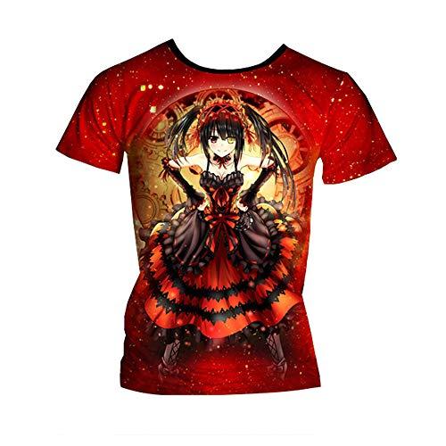 Date A Live Maglietta Fashion Casual T-Shirt Confortevole Felpa Boutique Elegante a Maniche Corte Unisex (Color : A05, Size : XL)