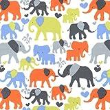 Fat Quarter Elefant Walk sky blau Baumwolle Quilten