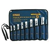 Alyco 191570 - Juego 8 llaves de tubo estampadas satinado mate UNE 16586 en bolsa de nylon