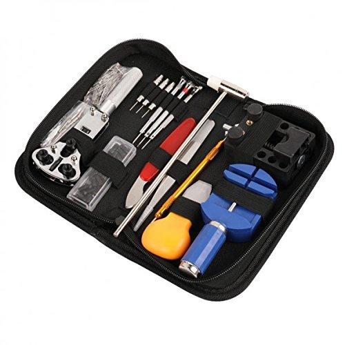 Sopoby Uhrenwerkzeug Set 147tlg Uhrmacherwerkzeug Uhr Werkzeug Tasche Reparatur Set Uhrwerkzeug Gehäuse Öffner in Nylontasche watch tool - 5