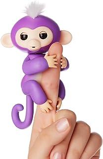 Fingerlings aapje paars met wit haar Mia 3704 interactief speelgoed, reageert op geluiden, bewegingen en aanrakingen