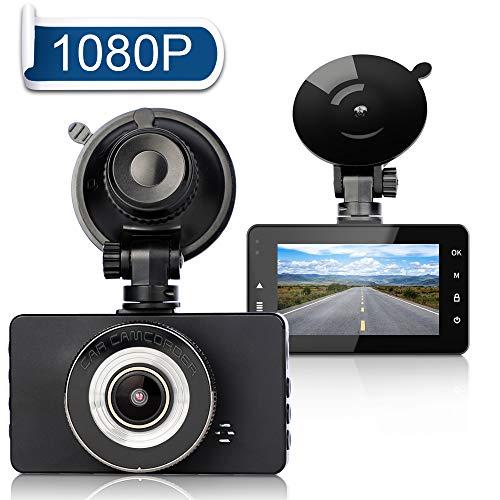 Telecamera per Auto - FAGORY 3 Pollici Videocamera Auto FHD 1080P Dash Cam, con Obiettivo Grandangolare di 170°, Rilevazione di Movimento, Registrazione in Loop, G-Sensor, Monitor di Parcheggio