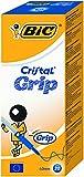 BIC Kugelschreiber Cristal Grip (Kappenmodell, 0.32 mm) Schachtel à 20 Stück, blau