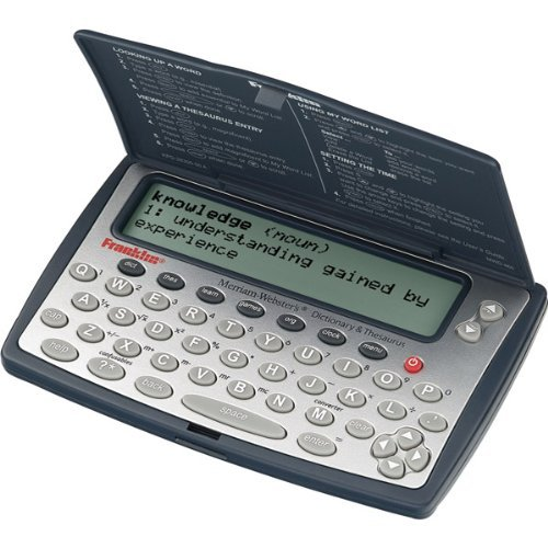 Franklin MWD-460A Merriam-Webster Dictionary and Thesaurus Help You BuildVocabulary and Spelling Skills