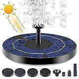 DAXGD Bomba de fuente solar, kit de fuente de bomba de agua solar flotante de 3 W 4.5 V con batería recargable para estanque de jardín, piscina