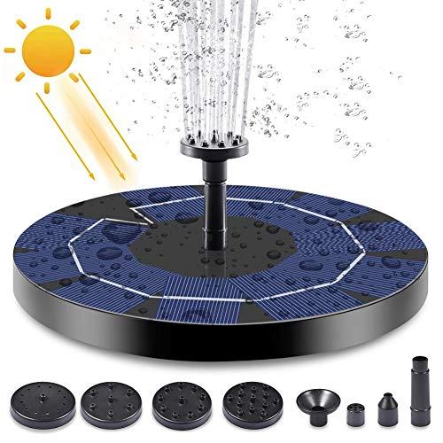 DAXGD Fonteinpomp op zonne-energie, drijvende 3 W 4,5 V waterpomp fonteinkit met oplaadbare batterij voor het tuinvijverzwembad