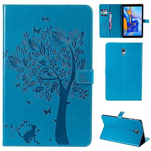 RZL PAD & TAB cases For Samsung Galaxy Tab A A2 10.5 Inch, Leather Flip Stand Case Kickstand Cover Case Business Case For Samsung Galaxy Tab A A2 10.5 Inch 2018 SM T590 T595 T597 (Color : BL)