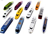 WolVol (Set of 12) Bundle Pull Back Toy Trains - Non Toxic & Colorful Pullback Train Toys - Friction Vehicle & Action Playset for Party Favors for Kids