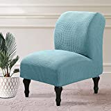 Armless Accent Chair Slipcovers Stretch Light Blue...