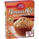 Betty Crocker Baking Mix, Muffin & Quick Bread Mix, Banana Nut, 12.3 Oz Box (Pack of 12)
