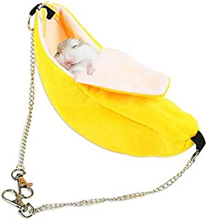 1バナナ型 ブランコ ハムスター ゆらゆら 暖かい ハウス ハンモック 小動物用 寝床 防寒 かわいい おもちゃ モモンガリス配達3〜5労働日まで