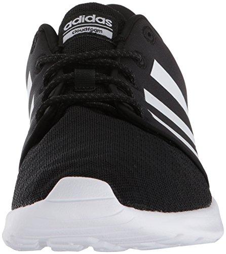 adidas Women's Cloudfoam QT Racer Sneaker, Black/White/Carbon, 9 M US 9