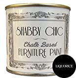 Shabby Chic Furniture Chalk Paint: Chalk Based Furniture and Craft Paint for Home Decor, DIY Projects, Wood Furniture - Chalked Interior Paints with Rustic Matte Finish - Liter - Black Liquorice