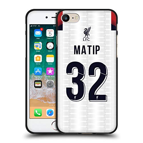 Head Case Designs Oficial Liverpool Football Club Joël Matip 2019/20 Jugadores Away Kit Grupo 1 Funda de Gel Negro Compatible con Apple iPhone 7 / iPhone 8 / iPhone SE 2020