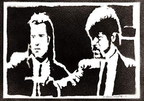 Póster Pulp Fiction Grafiti Hecho a Mano - Handmade Street Art - Artwork