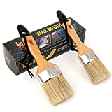 Chalked Paint Brush for Furniture painting Small 2' & Large 2.5' Brushes set - Compatible with annie sloan Chalk Paints,...