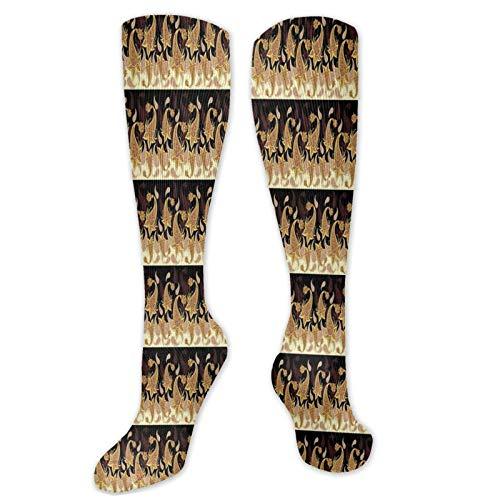 Vibrante diseño abstracto de estilo persa popular deporte calcetines de compresión de ocio calcetines de tripulación hombres y mujeres calcetines largos transpirables patrón casual