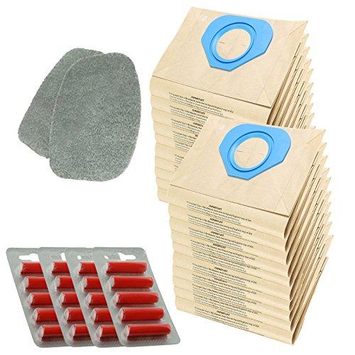 Spares2go filtre Coussinets + Sacs à poussière pour Nilfisk Homespare GS80 GS90 GM80 GM90 Gd80 Foof Aspirateur (lot de 2 filtres + 20 Sacs + désodorisants)