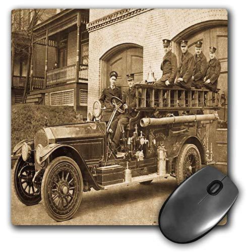 Anfang des 20. Jahrhunderts Pumper Fire Truck und Feuerwehr Sepia Mouse Pad