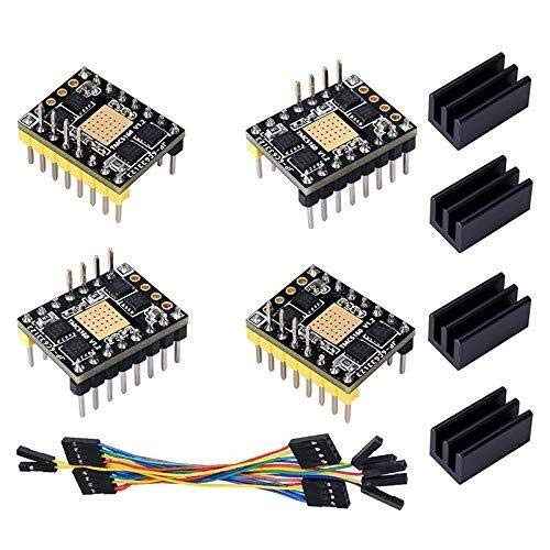 YELLAYBY Stepper Motor Driver TMC5160 V1.2 Stepper Motor StepStick Mute Silent Driver Support SPI with Heatsink for 3D Printer Control Board (4 Pieces) Engraving Machine Automation