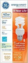 42119 9w Soft White 40 Energy Saving CFL Spiral Bulb Med Base (49906 74196 10w)