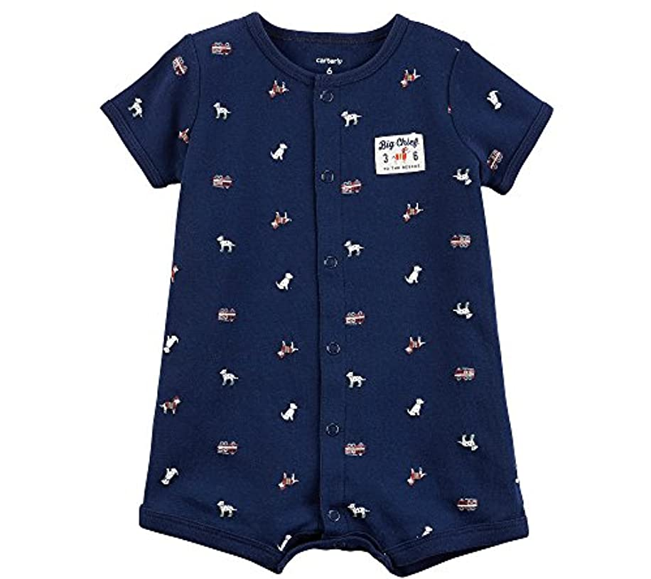 Carter's Baby Boys' Firetruck Dog Snap-up Romper