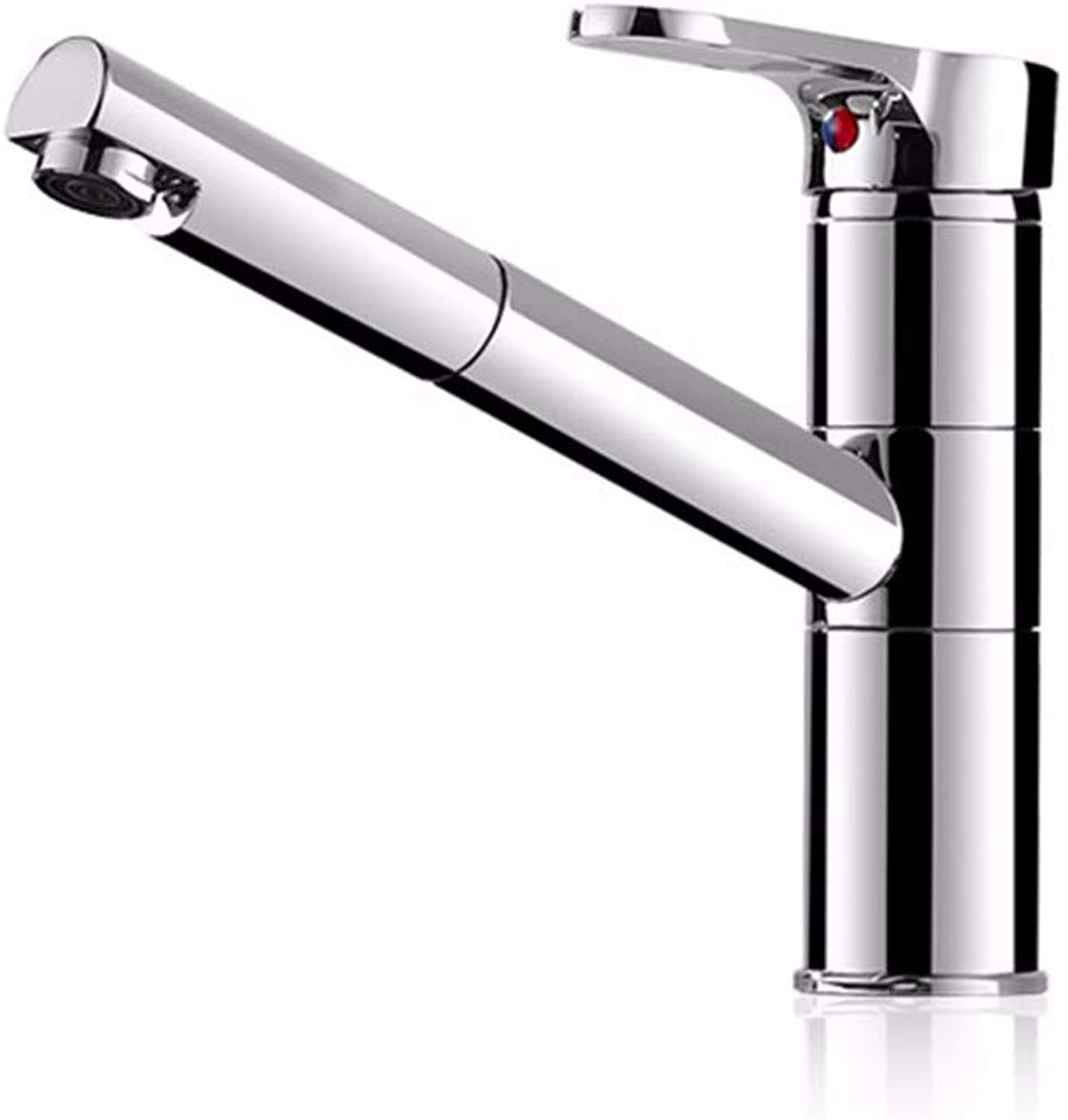 Draw-Type Kitchen Cold and hot Water Faucet Dishwasher Full Copper Stretchable redating Telescopic Dishwasher Sink Faucet