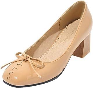RAZAMAZA Women Fashion Square Toe Pumps Heels
