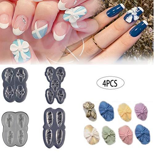 Moule à Main, 3D Silicone Moule Nails Art Sculpture Moule pour DIY Nail Art Décorations Fournitures Manucure Outil