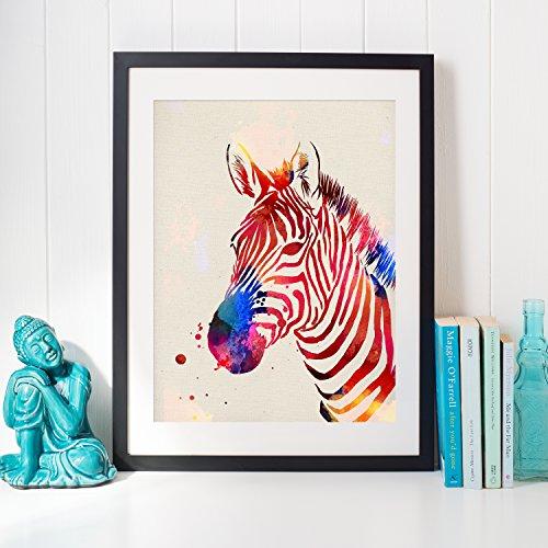 Nacnic Lámina para enmarcar Zebra Regalos creativos de Animales. Laminas para enmarcar con imágenes de Animales. Regalo inolvidable para una Amiga. Papel 250 Gramos