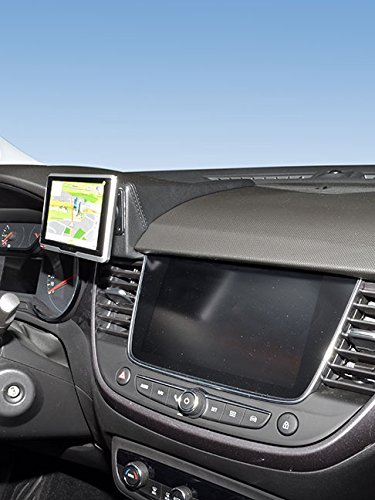 KUDA 6965 Soporte de piel sintética negro para Opel Crossland X a partir de 06/2017