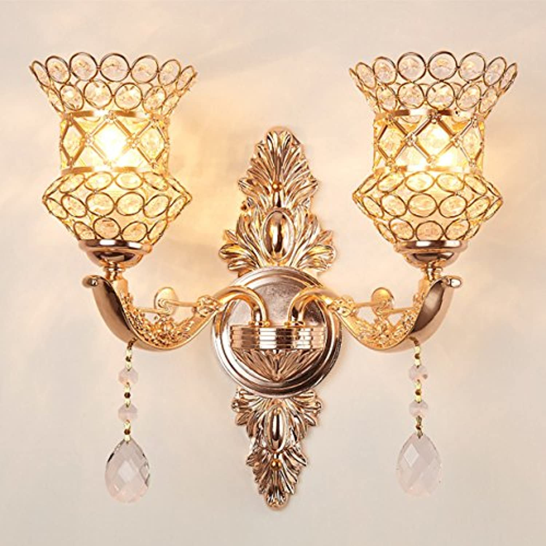 StiefelU LED Wandleuchte nach oben und unten Wandleuchten Crystal LED Wandleuchte Wohnzimmer Schlafzimmer Fahrscheinwerfer, Dual Head