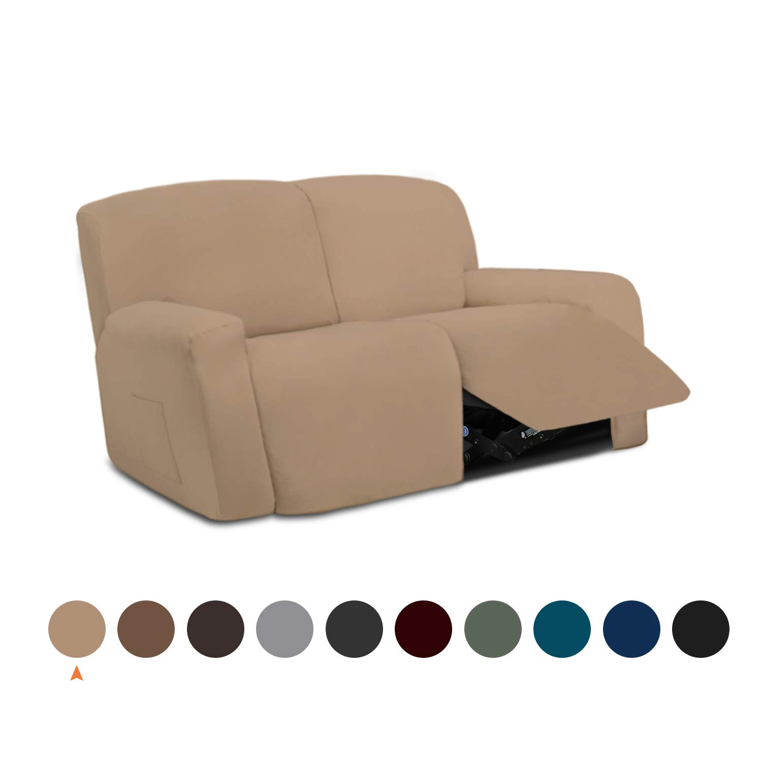 Easy Going silpcovers Furniture slipcovers%EF%BC%88Recliner Loveaeat%EF%BC%8CCamel%EF%BC%89