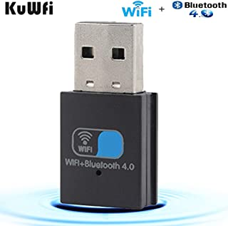 KuWFi WiFi+ Bluetooth 4.0 WiFi USB Adapter Portable Mini AP for Desktop Laptop(SR-3505B)