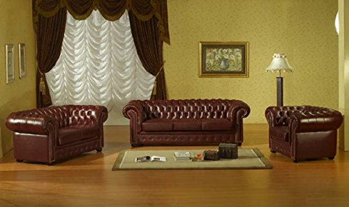 JVmoebel Sofagarnitur Chesterfield Ledersofa 3+2+1 Sofa Kunstleder Couch Sitz Garnitur #1