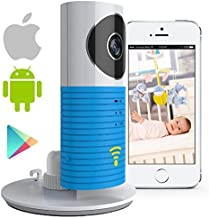 Video Baby Monitor Camera Compatible with iPhone and Android. WiFi Enabled Nanny Cam, 2 Way Talkback with Motion Activated Cell Alerts. Baby Blue