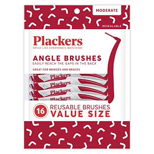 Plackers Interdental Angled Brush, 16 Count
