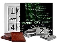 DAチョコレートかわいいキャンディWANNACRYチョコレートギフトセットコンピュータウィルスデザイン13x13cm 1箱。 (コマンドライン)